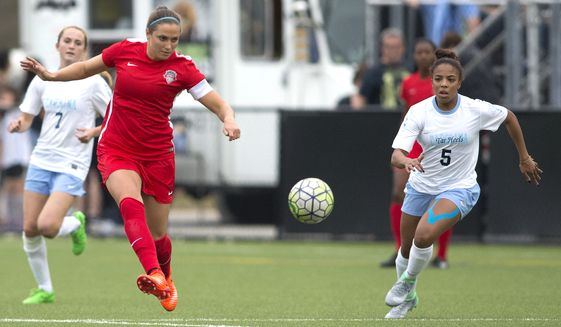 Shelina Zadorsky and the Washington Spirit start their new season Saturday. Photo courtesy: Tony Quinn/Washington Spirit