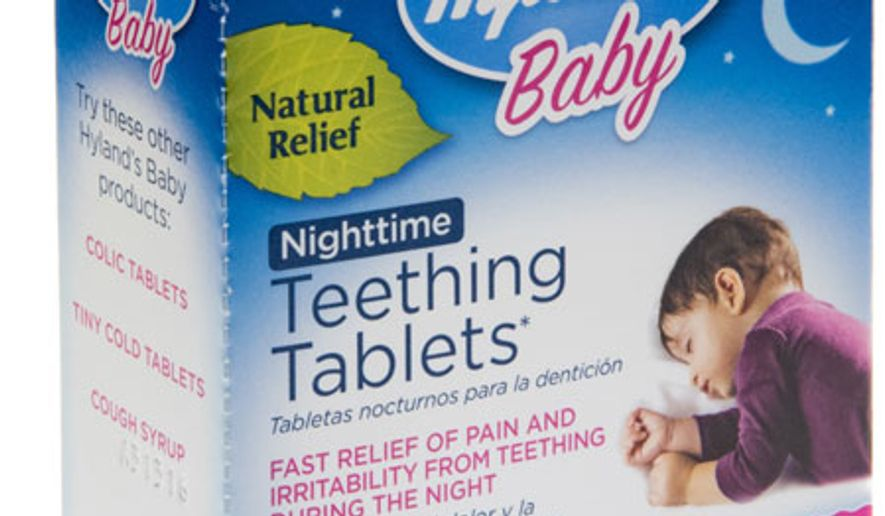 One of the recalled baby teething products by the Standard Homeopathic Company