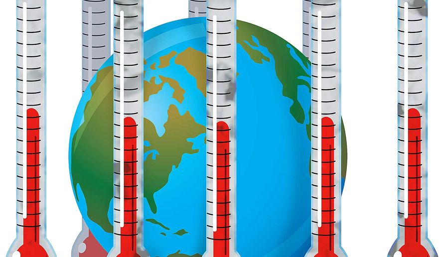 Trapped by the Paris Climate Treaty Illustration by Greg Groesch/The Washington Times