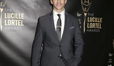 """FILE - In this May 10, 2015 file photo, Andy Karl attends the 30th Annual Lucille Lortel Awards at the NYU Skirball Center in New York. Producers of the Broadway musical """"Groundhog Day"""" say it will open as planned, but injured star Karl's status is unclear. Karl hurt himself during a preview performance Friday, April 14, 2017, forcing the cancellation of Saturday's matinee. (Photo by Greg Allen/Invision/AP, File)"""