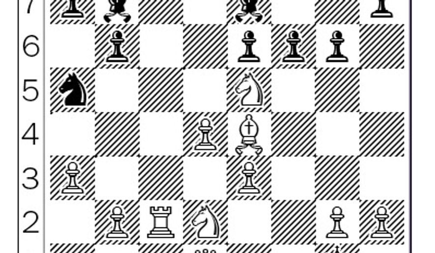 Bisguier-Benko after 21...f6.