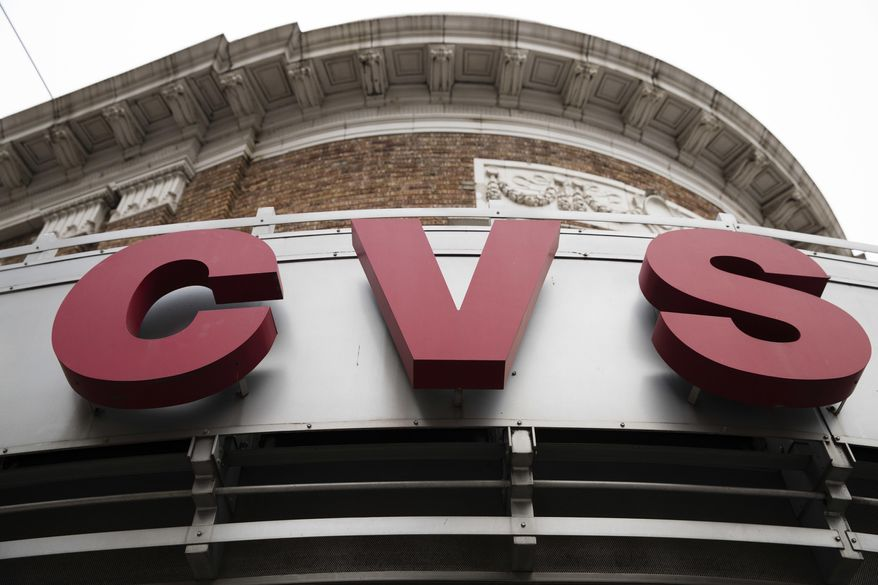 A CVS drugstore and pharmacy in Philadelphia is seen here on Oct. 21, 2016. (Associated Press) **FILE**