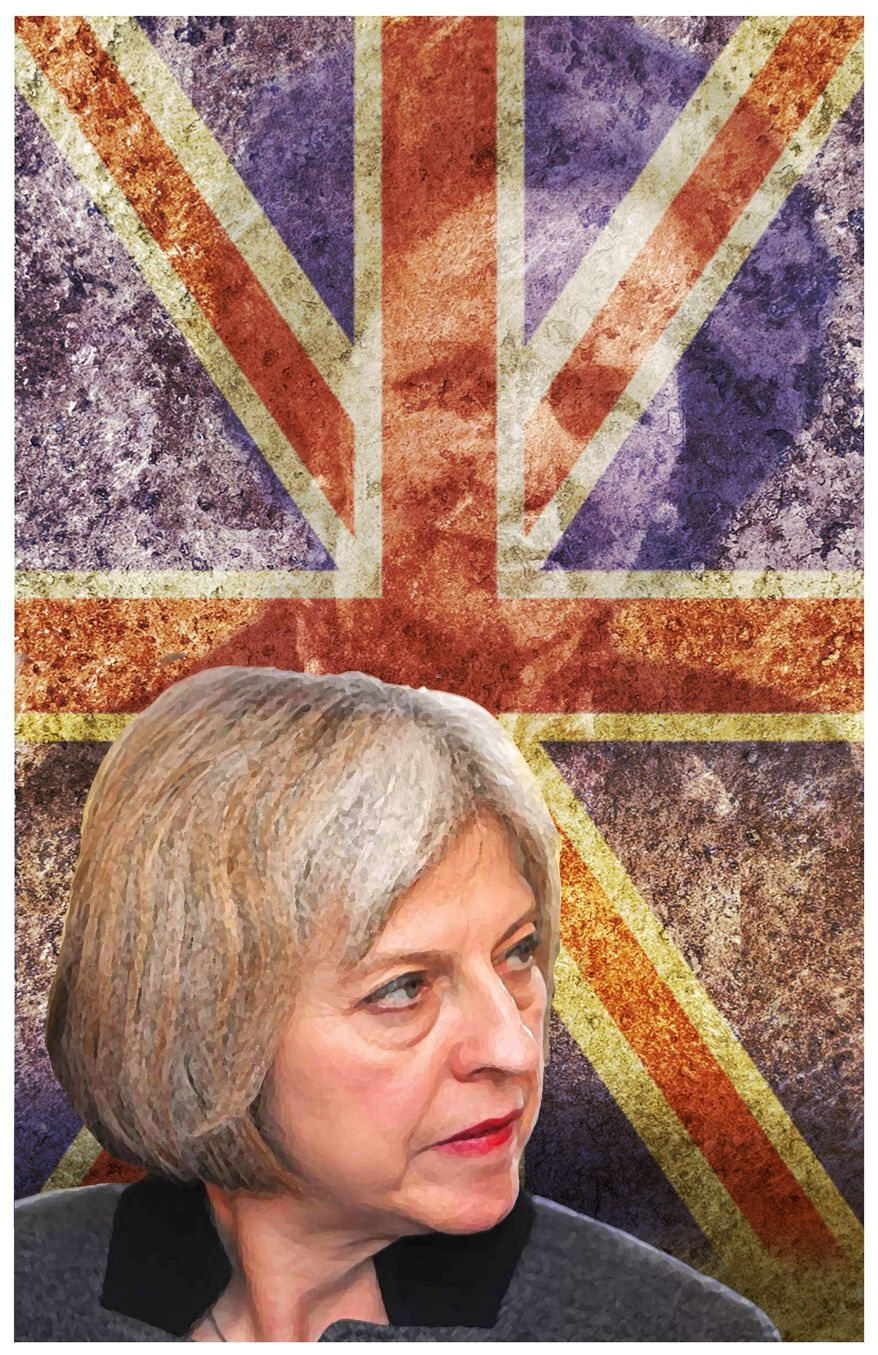Theresa May (The Washington Times illustration)