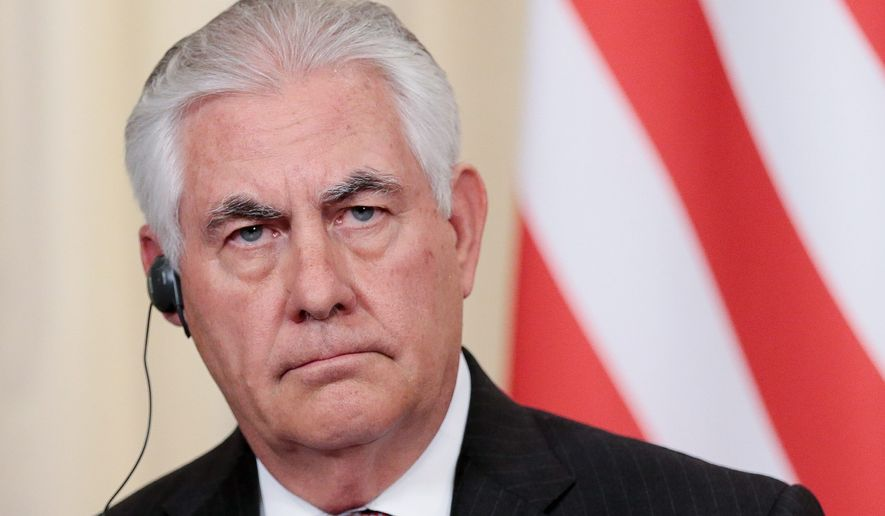 """Secretary of State Rex Tillerson criticized the Iran nuclear deal. """"The Trump administration has no intention of passing the buck,"""" he said Wednesday. (Associated Press)"""