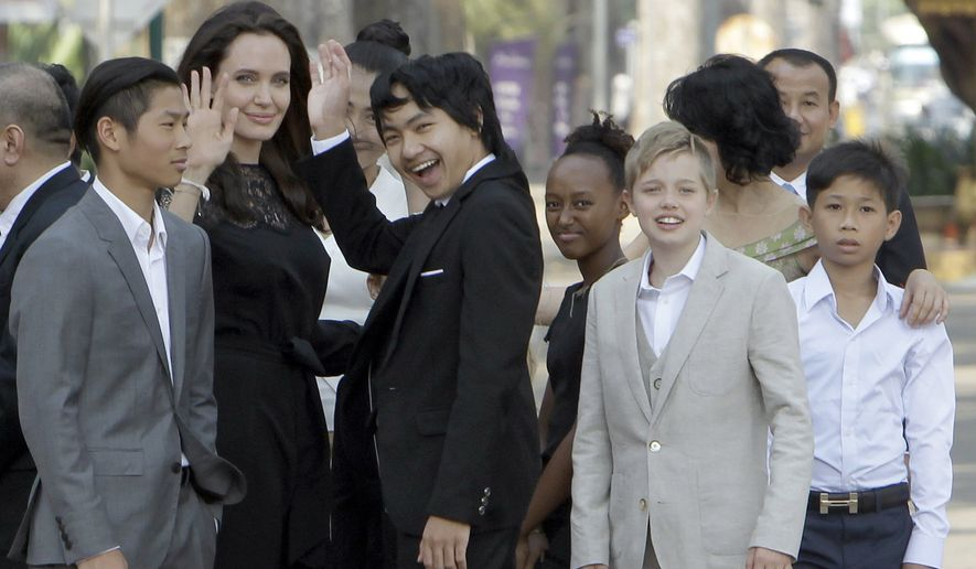 Actress Angelina Jolie adopted three foreign-born children.