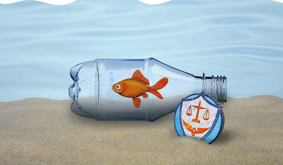 The Non-biodegradable Plastic Bottle Illustration by Greg Groesch/The Washington Times