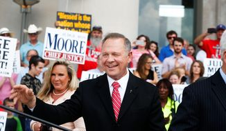 Suspended Alabama Chief Justice Roy Moore promised to announce a decision next week on whether he will run for his state's U.S. Senate seat vacated by now U.S. Attorney General Jeff Sessions. (Associated Press)