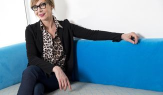 """In this March 29, 2017 photo, Allison Janney poses for a portrait in New York. Janney, who won Emmy Awards for her work in """"The West Wing"""" and """"Mom,"""" is starring in a Broadway revival of """"Six Degrees of Separation."""" (Photo by Brian Ach/Invision/AP)"""
