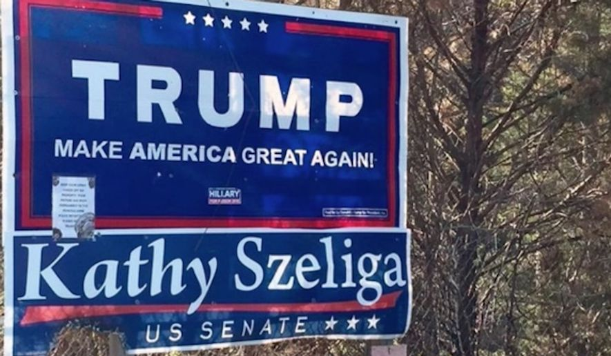 Two 19-year-olds are facing hate crimes charges for allegedly setting fire to a Donald Trump campaign sign in Maryland. (The Baltimore Sun)