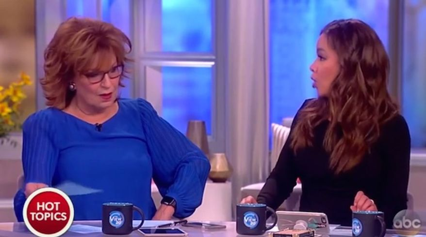 """Joy Behar of """"The View"""" likened Sarah Palin's visit to the The White House to the War of 1812 during a broadcast on Friday, April 21, 2017. (ABC screenshot)"""