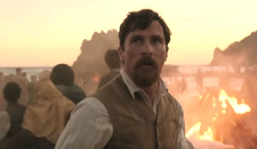 """Actor Christian Bale stars as reporter Chris Myers in the """"The Promise,"""" released April 21, 2017. (YouTube, """"The Promise"""" official trailer) ** FILE **"""