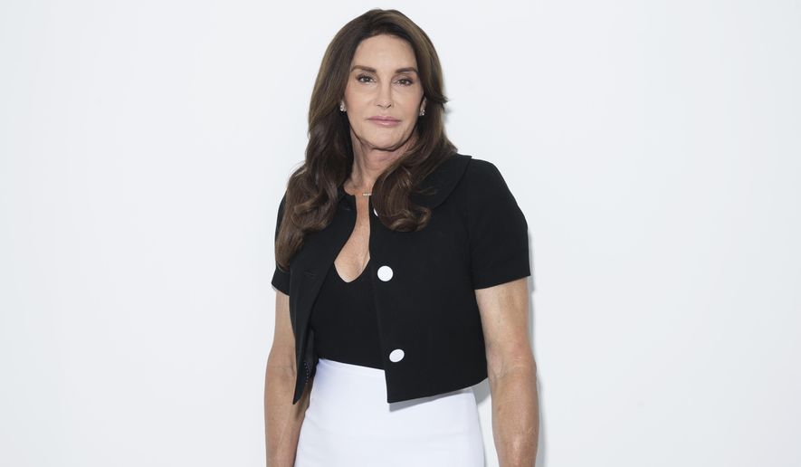 """Caitlyn Jenner poses for a portrait on Monday, April 24, 2017, in New York to promote her memoir, """"The Secrets of My Life."""" (Photo by Taylor Jewell/Invision/AP)"""