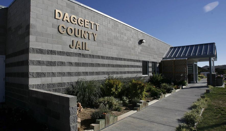 This photo taken Sept. 25, 2007, shows Daggett County Jail near Manilla,Utah in Daggett County. The sheriff of a remote Utah county under investigation for allegations of inmate mistreatment in its jail quietly resigned over the weekend and officials made his departure public on Monday, April 24, 2017. Jerry R. Jorgenson resigned Sunday after serving for six years as the sheriff of northeastern Daggett County, said Susie Potter, spokeswoman for the sheriff's office.  (Rick EganThe Salt Lake Tribune via AP)