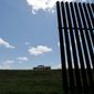 President Trump has arguably done more than his predecessors to get the border wall along the U.S. frontier with Mexico finally realized. Despite congressional promises, little construction progress has yet been made. (ASSOCIATED PRESS)