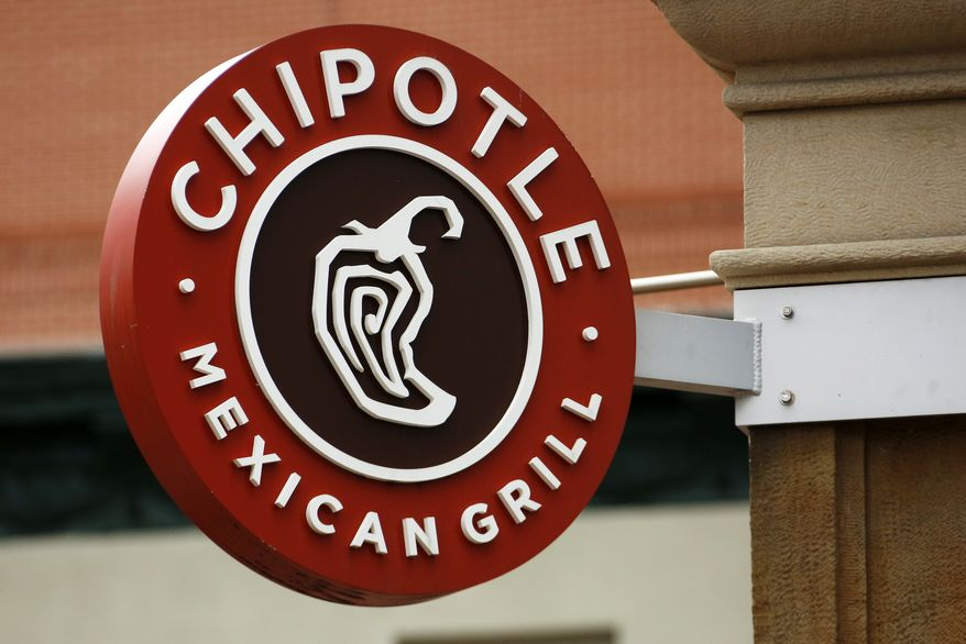 This Thursday, Jan. 12, 2017, photo shows the sign on a Chipotle restaurant in Pittsburgh. Chipotle Mexican Grill Inc. reports financial results, Tuesday, April 25, 2017. (AP Photo/Gene J. Puskar)