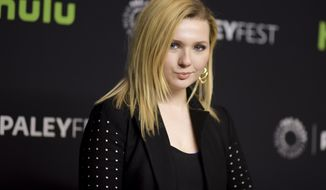 """FILE - In this March 12, 2016, file photo, Abigail Breslin attends the 33rd Annual Paleyfest: """"Scream Queens"""" held at the Dolby Theatre in Los Angeles. Breslin explained on Instagram on April 22, 2017, why she didn't report being raped by someone she was in a relationship with. (Photo by Richard Shotwell/Invision/AP, File)"""