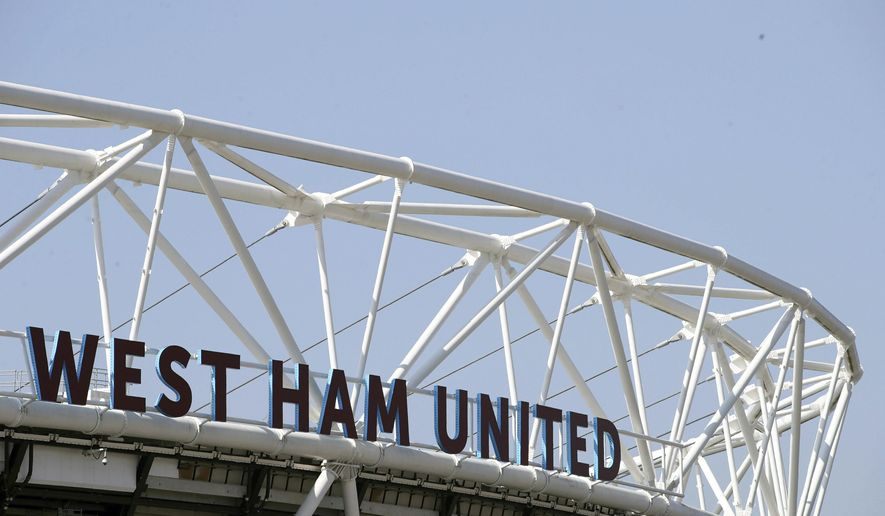 "FILE - In this April 8, 2017 file photo, shows a general view of London Stadium in London. British authorities arrested several men working in professional soccer on suspicion of tax fraud on Wednesday April 26, 2017, in a far-reaching case that saw raids in England and France. Premier League club West Ham said it was ""cooperating"" with the tax agency ""to assist their enquiries."" (John Walton/PA via AP, File)"