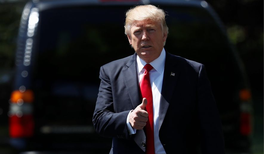 President Trump marks his 100th day in office on Saturday having faced unwavering opposition to his agenda from Democrats. (Associated Press/File)