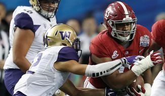 The Redskins took Alabama defensive lineman Jonathan Allen with the 17th pick on Thursday. (Associated Press)