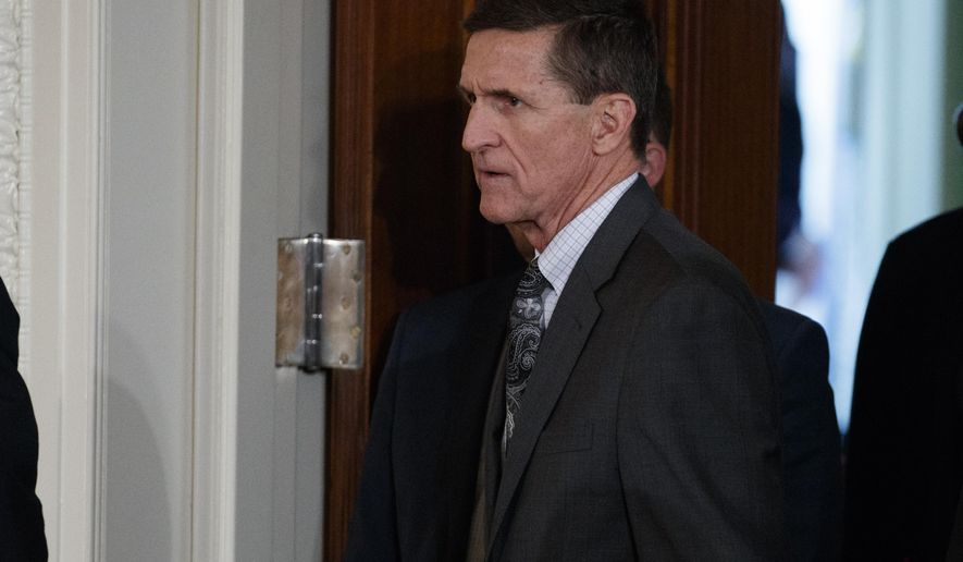 "FILE - In this Feb. 13, 2017 file photo, Mike Flynn arrives for a news conference in the East Room of the White House in Washington. Documents released by lawmakers show Flynn, now former national security adviser, was warned when he retired from the military in 2014 not to take foreign money without ""advance approval"" by Pentagon authorities.  (AP Photo/Evan Vucci, File)"