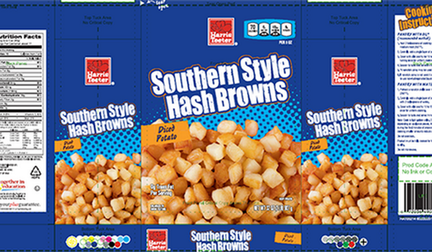 Harris Teeter brand hash browns are under an FDA recall. Image via Charlotte Observer. (CharlotteObserver.com)
