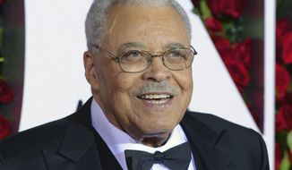 FILE - In this June 12, 2016 file photo, James Earl Jones arrives at the Tony Awards in New York. The Tony Awards Administration Committee said Thursday that Jones will receive the Special Tony Award for Lifetime Achievement in the Theatre at the June 11 Tony Awards. (Photo by Charles Sykes/Invision/AP, File)
