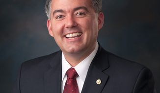 Sen. Cory Gardner, Colorado Republican, from his official Senate portrait. (Senate.gov)