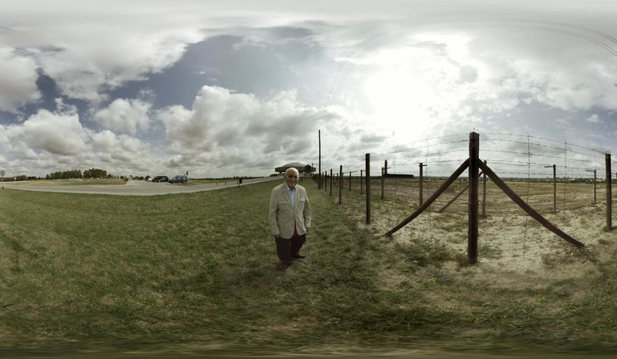 "This image released by the Tribeca Film Festival shows a scene from the VR film, ""The Last Goodbye,"" being shown at the Tribeca Film Festival in New York. A number of high-profile projects unveiled at the Tribeca Film Festival show the young medium pushing forward to unlock VR's power to create empathy, whether it's a Holocaust survivor or a crow voiced by John Legend. (Tribeca Film festival via AP)"