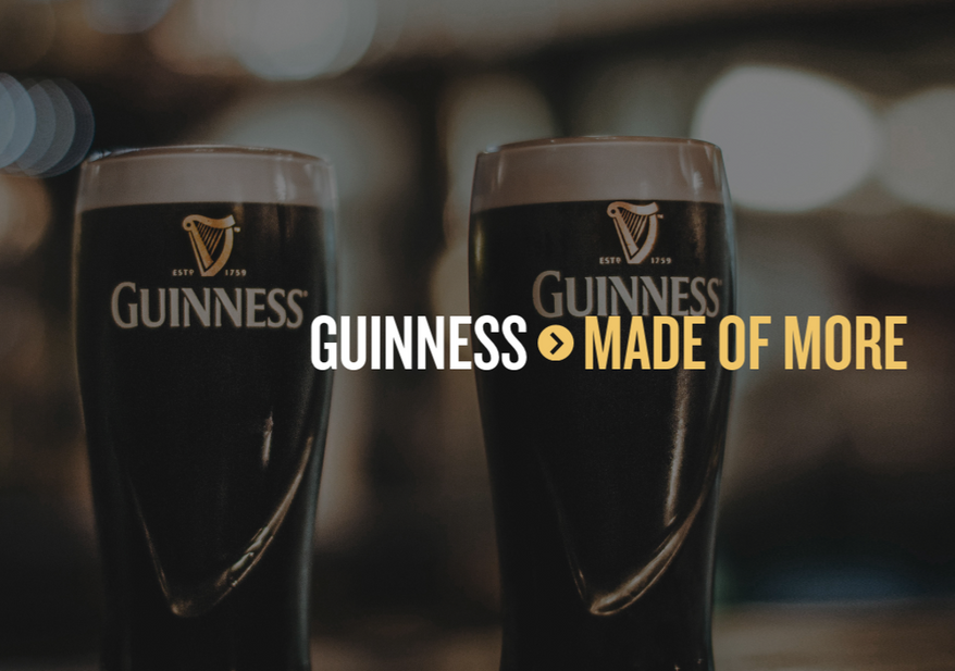 Screen capture from Guinness' official website. (Guiness.com)