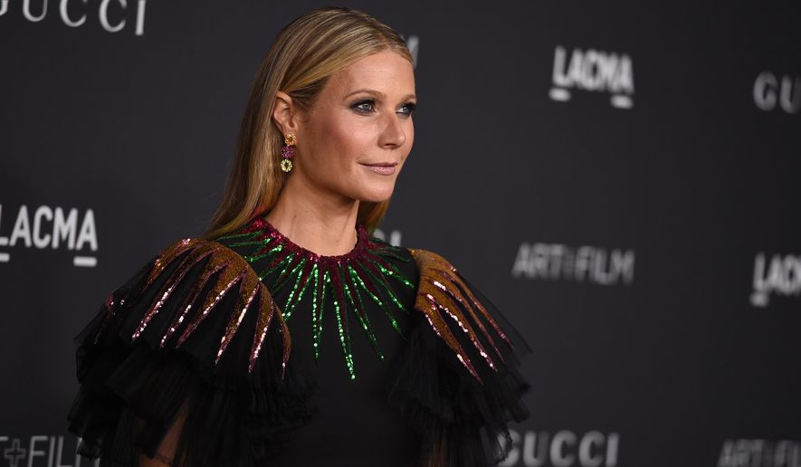 FILE - In this Oct. 29, 2016, file photo, Gwyneth Paltrow arrives at the 2016 LACMA Art + Film Galain Los Angeles. Paltrow and former Vogue editor Anna Wintour are teaming up to take the actress' Goop website to print, magazine publisher Conde Nast announced on April 28, 2017. (Photo by Jordan Strauss/Invision/AP, File)