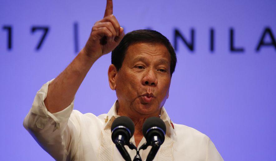 President Trump has invited Philippines President Rodrigo Duterte to visit the White House. (AP Photo/Bullit Marquez)