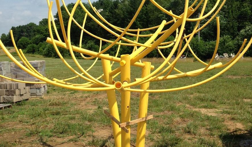 "This Aug. 11, 2016 photo provided by the Kentucky Department of Fish and Wildlife shows a fish attractor built of plastic pipe donated by a natural gas company. Biologist Jeremy Shiflet says he calls structures like this one ""Dr. Seuss trees."" Louisiana and Tennessee departments have recently begun similar partnerships with Atmos  Energy and other energy companies. (Kentucky Department of Fish and Wildlife Resources via AP)"