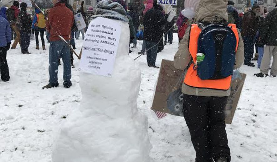 The People's Climate March in Denver, Colorado, on April 29, 2017. The march in Colorado Springs, Colorado, was postponed due to snow. Photo credit: Matt Dempsey of Western Wire