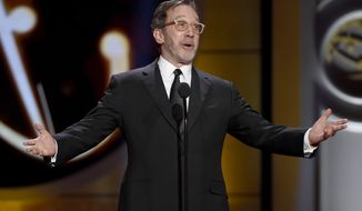 Tim Allen speaks on stage at the 44th annual Daytime Emmy Awards at the Pasadena Civic Center on Sunday, April 30, 2017, in Pasadena, Calif. (Photo by Chris Pizzello/Invision/AP)