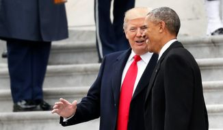 President Trump and former President Barack Obama last spoke on Inauguration Day. (Associated Press)