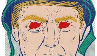 Illustration on Trump's Afghanistan challenge by Linas Garsys/The Washington Times