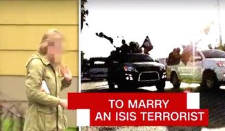 """CNN's """"AC 360"""" investigated former FBI translator Daniela Greene for its Monday, May 1, 2017, broadcast. Ms. Green was sent to prison for two years after marrying an ISIS terrorist Abu Talha al-Almani in August 2014. (CNN screenshot)"""