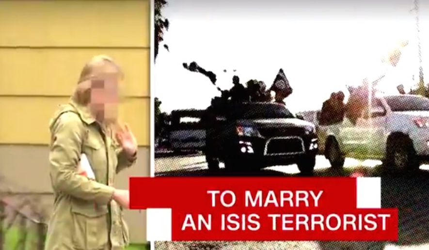 "CNN's ""AC 360"" investigated former FBI translator Daniela Greene for its Monday, May 1, 2017, broadcast. Ms. Green was sent to prison for two years after marrying an ISIS terrorist Abu Talha al-Almani in August 2014. (CNN screenshot)"