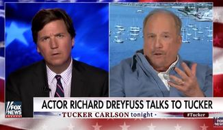 Oscar-winning actor Richard Dreyfuss found some common ground with Fox News host Tucker Carlson Friday night on university political correctness and the importance of free speech. (Fox News)
