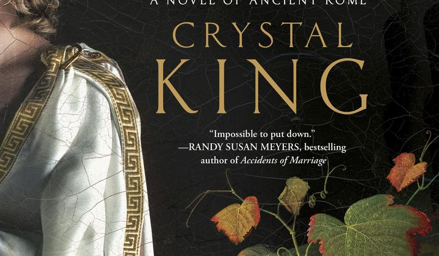 """This cover image released by Touchstone shows, """"Feast of Sorrow: A Novel of Ancient Rome,"""" by Crystal King. (Touchstone via AP)"""