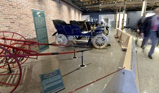 The renovated Durant-Dort Factory One carriage works has space for public meeting facilities, the Kettering University archives and offices. General Motors unveiled the renovation and repurposing done to the original factory that gave rise to the automaking giant during a ceremony Monday, May 1, 2017, in Flint, Mich. .(Dale G Young/The Detroit News via AP)/Detroit News via AP)