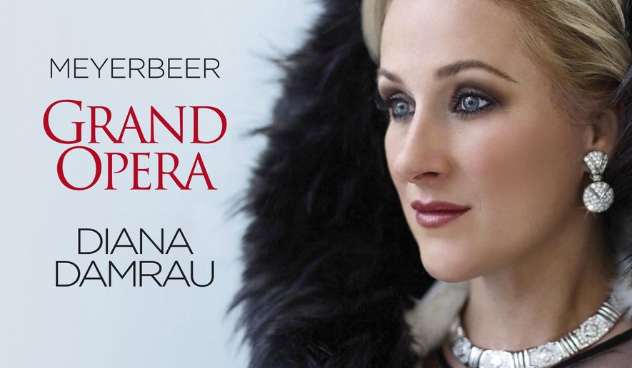 """This cover image released by Erato shows """"Meyerbeer: Grand Opera,"""" a release by Diana Damrau. (Erato via AP)"""