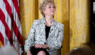 Small Business Administration Administrator Linda McMahon appears at a women's empowerment panel in the East Room of the White House, Wednesday, March 29, 2017, in Washington. (AP Photo/Andrew Harnik)