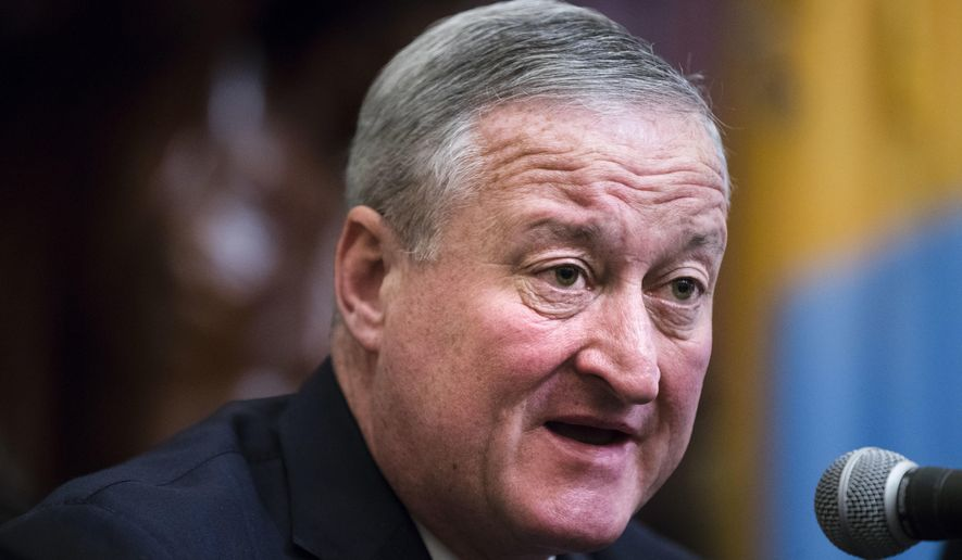 Philadelphia Mayor Mayor Jim Kenney speaks during a news conference at City Hall in Philadelphia, Tuesday, May 2, 2017.  (AP Photo/Matt Rourke) **FILE**