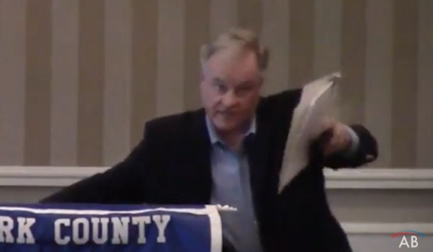 Police in Pennsylvania are reportedly investigating a confrontation at a country club Tuesday between state Sen. Scott Wagner and a liberal tracker for American Bridge 21st Century, who claimed he was assaulted by the Republican gubernatorial candidate. (YouTube/@American Bridge 21st Century)