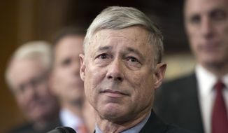 Rep. Fred Upton, R-Mich., speaks on Capitol Hill in Washington, in this Dec. 8, 2016, file photo. (AP Photo/Cliff Owen, File)