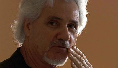 Robert Cole, a former Sallyport Global investigator, speaks in Columbus, Ga., on Thursday, March 23, 2017, during an interview with The Associated Press. Cole says he and another investigator were fired after uncovering wrongdoing at Balad Air Base, where the company had a security contract. (AP Photo/Alex Sanz)