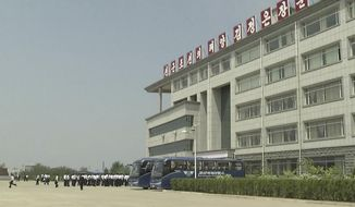 This image made from May 21, 2014, video shows the Pyongyang University of Science and Technology. North Korea confirmed on Wednesday, May 3, 2017, the detention of American citizen Kim Sang Dok, who was referred to as  Kim Sang-duk when Pyongyang University of Science and Technology, where he was teaching accounting, previously announced his detention. Kim's English name is Tony Kim. (AP Photo)