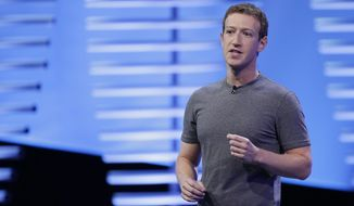 In this April 12, 2016, file photo, Facebook CEO Mark Zuckerberg speaks during the keynote address at the F8 Facebook Developer Conference in San Francisco. In a blog post Wednesday, May 3, 2017, Zuckerberg said that Facebook will hire another 3,000 people to review videos of crime and suicides following murders shown live. (AP Photo/Eric Risberg, File)