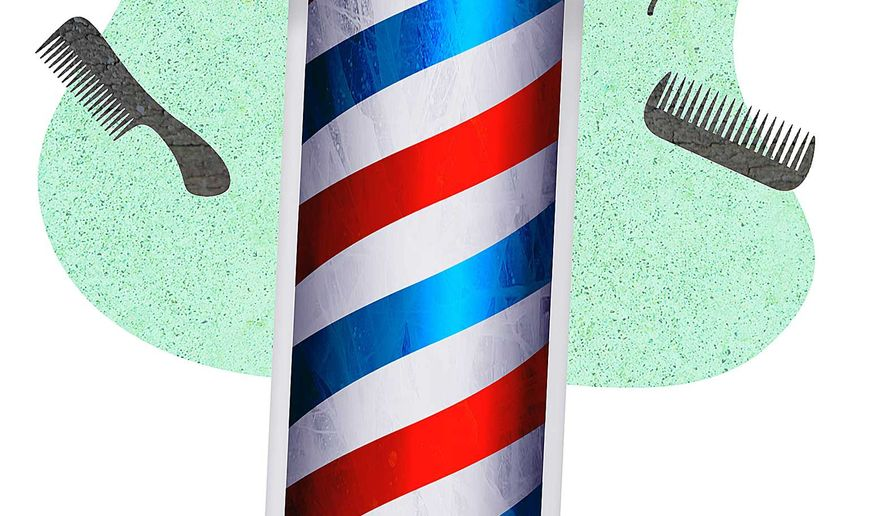 Barber Shop To Go Illustration by Greg Groesch/The Washington Times